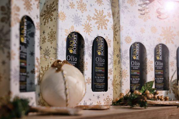 Confezione regalo natalizia Olio extravergine di oliva Borrelli