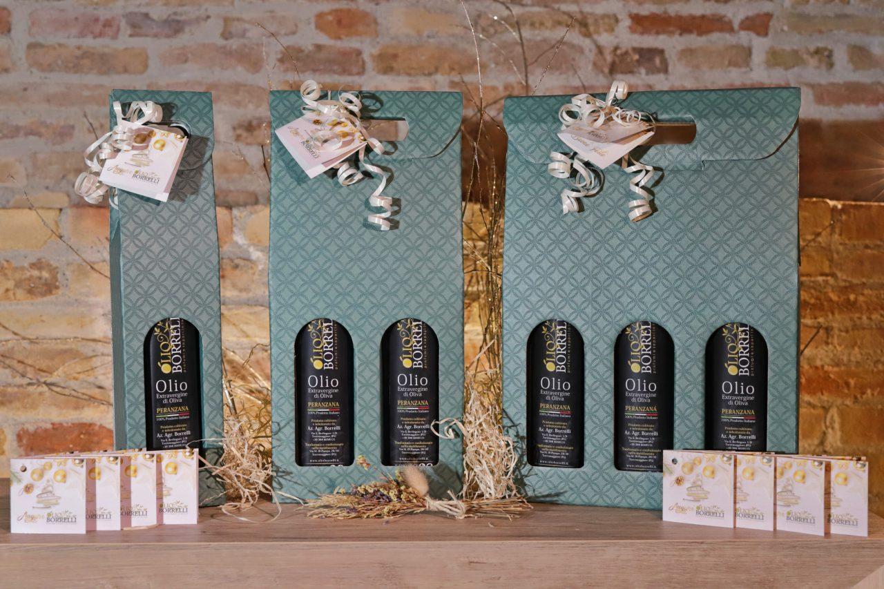 confezione natalizia verde olio extravergine di oliva borrelli