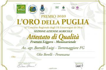 Premio 2020 L'Oro della Puglia