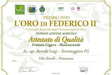 Premio 2020 l'Oro di Federico II