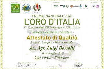 Premio Nazionale L'Oro d'Italia 2020