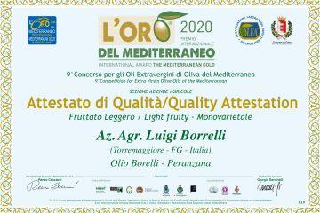 Premio Oro del Mediterraneo 2020